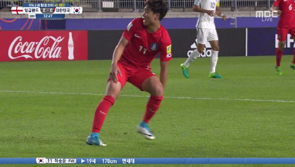 [하이라이트] 대한민국 vs 잉글랜드, 조영욱과 하승운의 환상 콤비, 조영욱이 측면에서 올린 볼 하승운은 발리슛