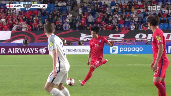 [하이라이트] 대한민국 vs 잉글랜드, 프리킥 찬스 만들어 낸 조영욱, 이유현의 날카로운 프리킥 슛