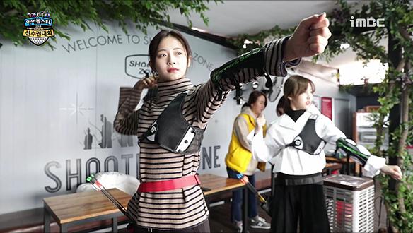 이쁜애 X 이쁜애 X 이쁜애 = 트와이스의 '양궁' 연습 현장!