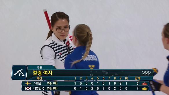 [하이라이트] 스웨덴의 무패 행진을 가로막는 여자 한국 컬링 팀의 힘!!