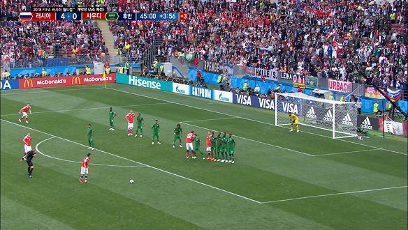 [골장면] <A조 예선> 러시아, 사우디에  5:0 완승!
