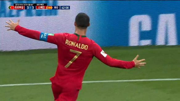 [골장면] <B조 예선> 포르투갈 VS 스페인, 호날두 해트트릭! 예측할 수 없는 경기