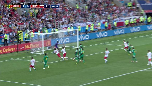 [골장면] <H조 예선> 폴란드 VS 세네갈, 크리호비아크 득점 마지막까지 따라붙는 폴란드