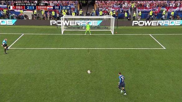 [골장면] 프랑스 VS 크로아티아, 골키퍼를 완벽히 속인 그리즈만의 PK 골!