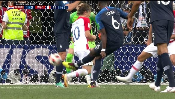[골장면] 프랑스 VS 크로아티아, 승리를 향한 포그바의 슛!