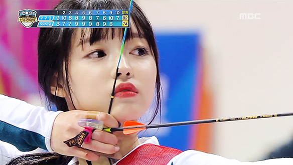 오마이걸, 양궁 단체전에서 1점 차로 짜릿한 승리!…감격의 눈물 펑펑