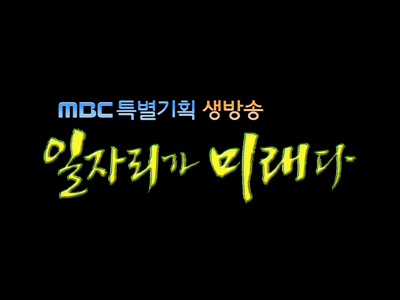 MBC 특별 기획 생방송 일자리가 미래다