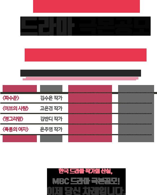 2017 상반기 MBC 드라마 극본공모